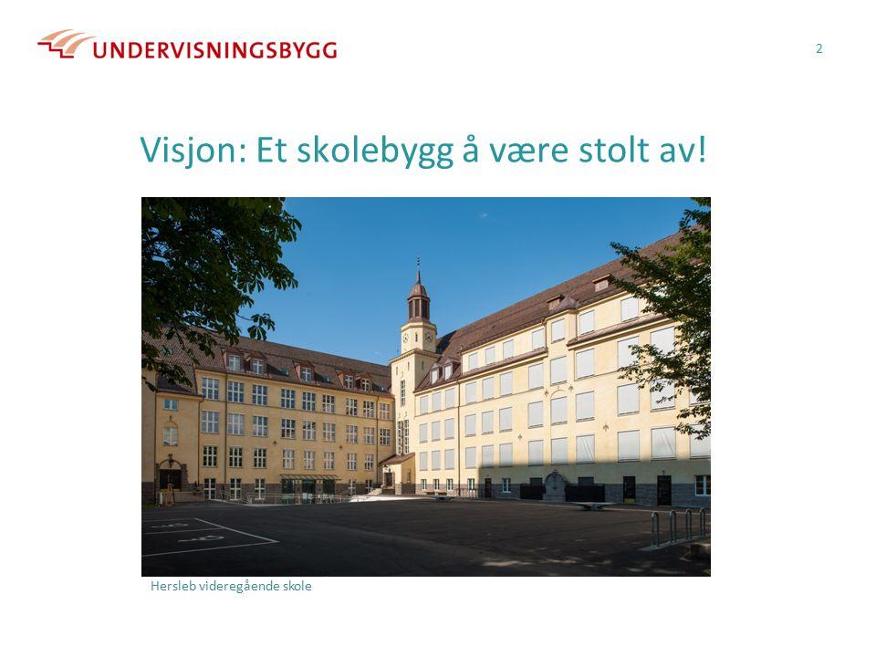 Visjon: Et skolebygg å være stolt av! 2 Hersleb videregående skole