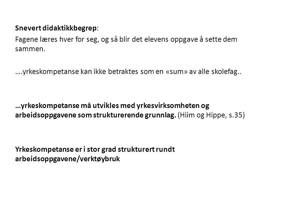 Kilder Hiim og Hippe (2001): Å utdanne profesjonelle yrkesutøvere. Oslo, Gyldendal.