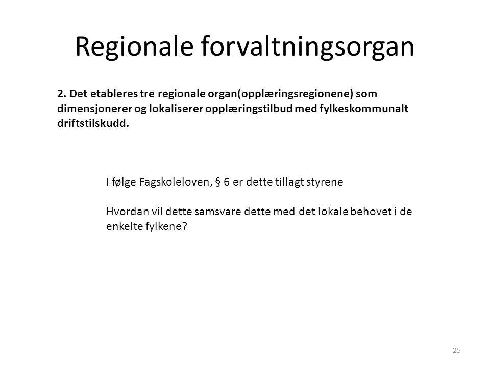 Regionale forvaltningsorgan 2.