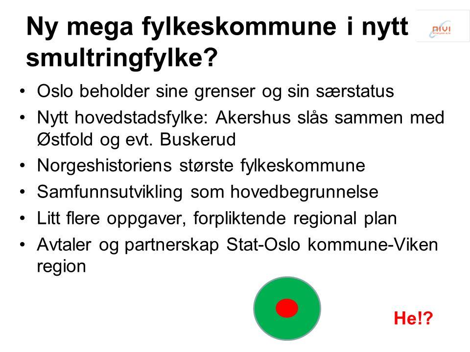 Ny mega fylkeskommune i nytt smultringfylke.