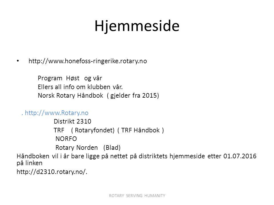 Hjemmeside http://www.honefoss-ringerike.rotary.no Program Høst og vår Ellers all info om klubben vår.