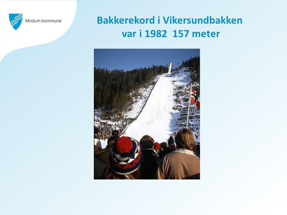 Bakkerekord i Vikersundbakken var i 1982 157 meter