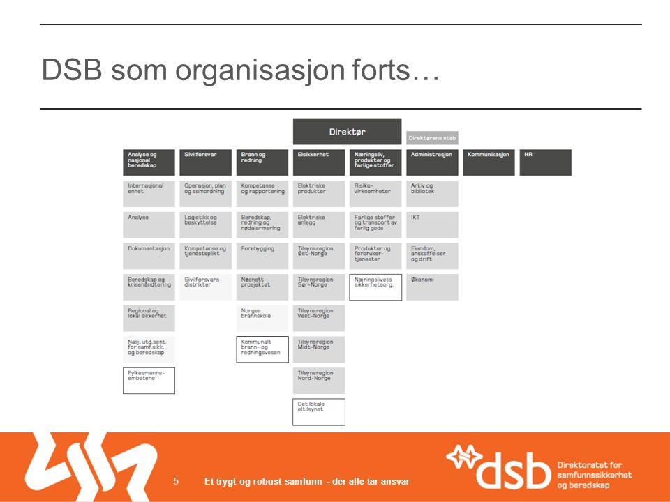 5 DSB som organisasjon forts…