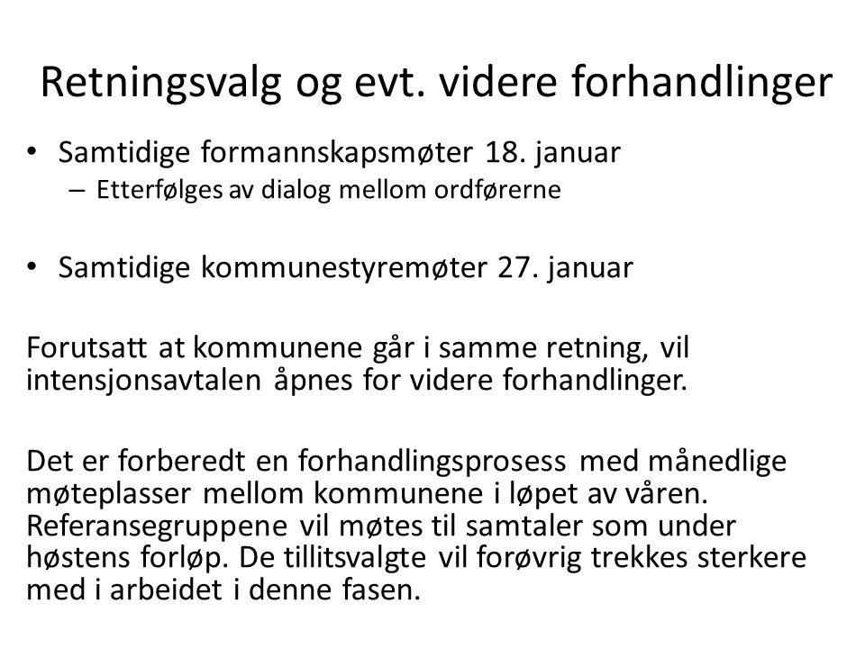 Retningsvalg og evt. videre forhandlinger Samtidige formannskapsmøter 18.
