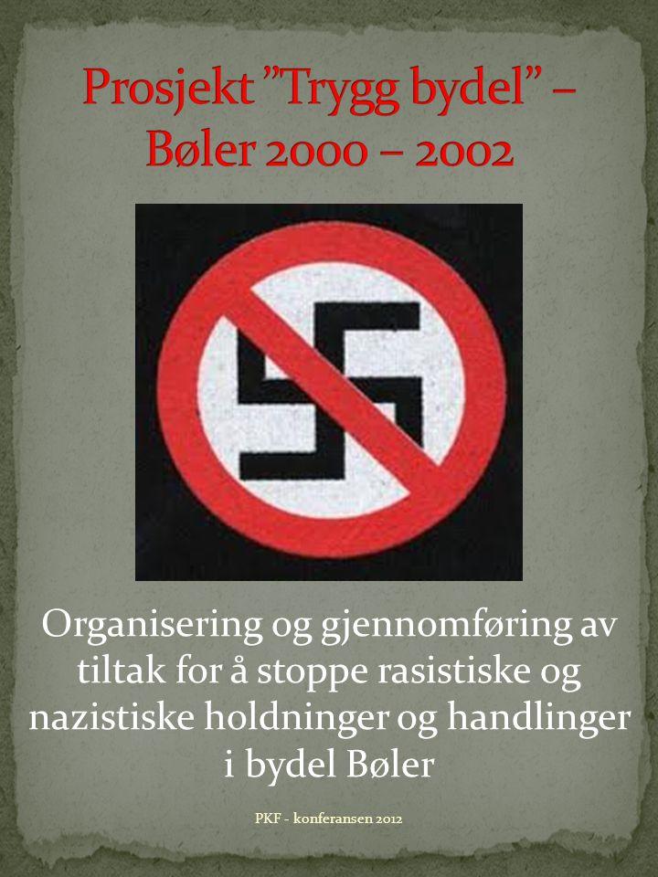 Organisering og gjennomføring av tiltak for å stoppe rasistiske og nazistiske holdninger og handlinger i bydel Bøler PKF - konferansen 2012