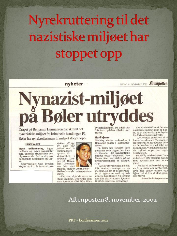 Aftenposten 8. november 2002