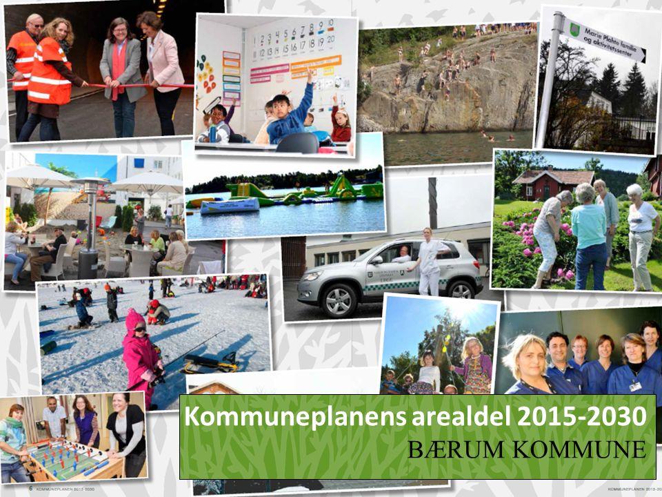 Bærum i dag Areal 191 km2 Befolkning 122.000 Innvandrerandel mer enn 15% Befolkningsvekst 2% siste 3 år Norges mest utdannede befolkning Arbeidsplasser 75.000, arbeidstakere 63.000 hvorav halvparten arbeider i Bærum 50.000 boliger Boligproduksjon 4-500 årlig fram til 2011 ca 700 de siste 4 år.