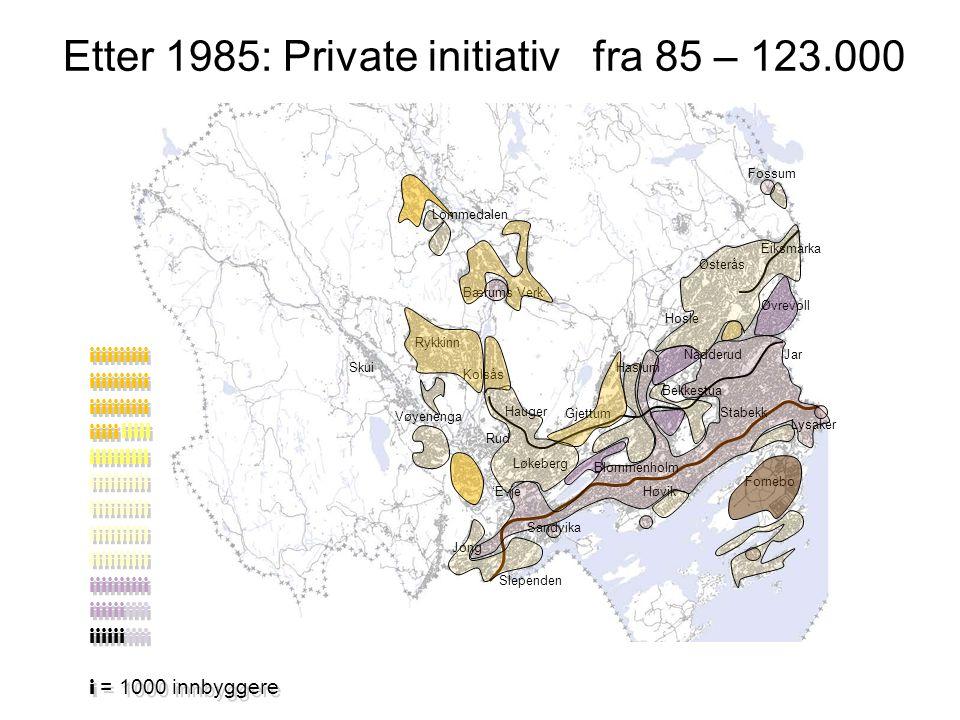 Bærums arealstrategi Styre boligbyggingen mot fortetting i utvalgte områder og begrense fortetting i resten av kommunen med en ramme på 600 boliger pr.