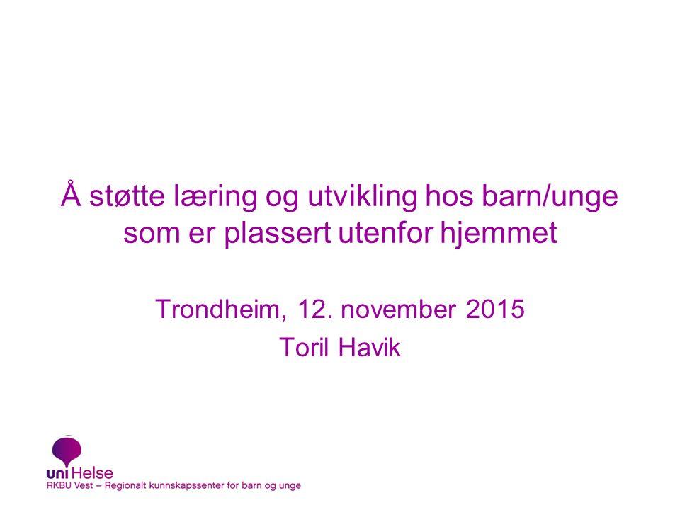 Også andre utskiftinger Sentral prosjektledelse i kommunen Prosjektmedarbeidere i forskningsdelen Kommunens referansegruppe Toril Havik32