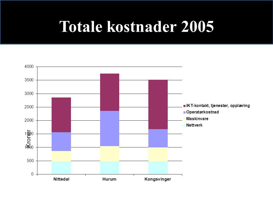 Totale kostnader 2005