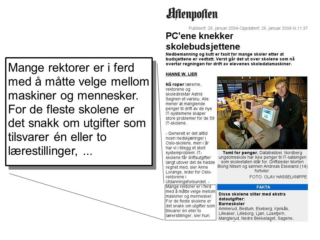 Store forskjeller ● 4 ansatte og 2 lærlinger som drifter 500 PC-er i Nittedal kommune.