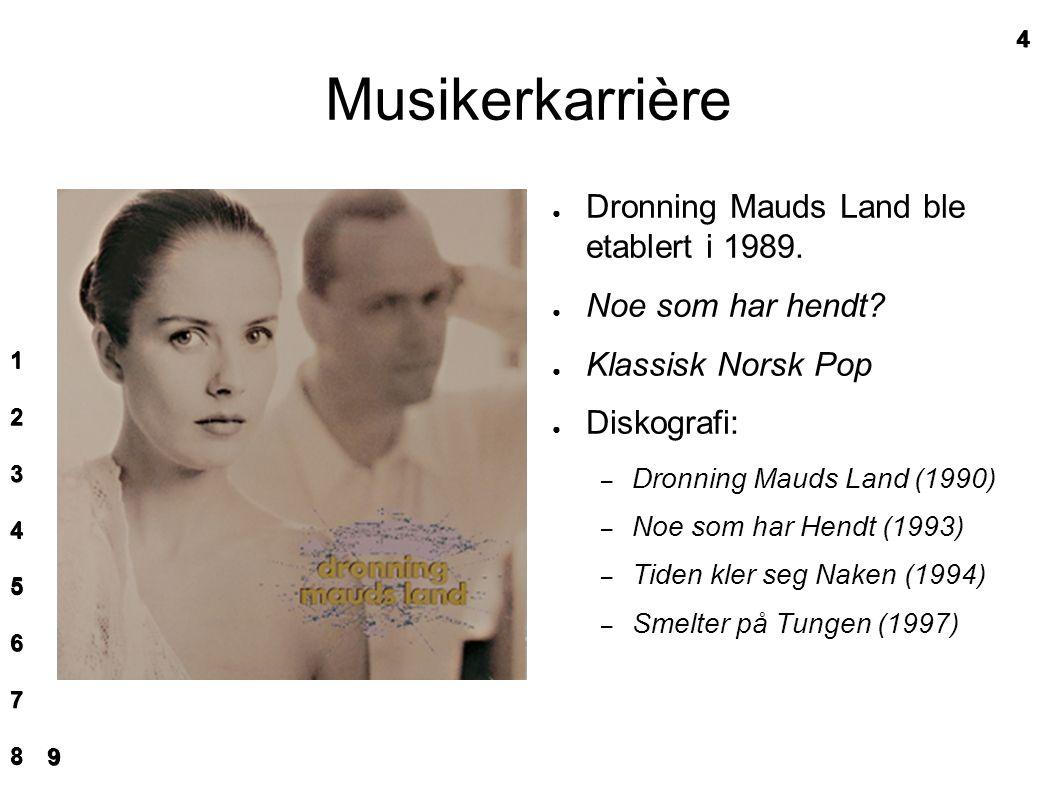Musikerkarrière ● Dronning Mauds Land ble etablert i 1989.