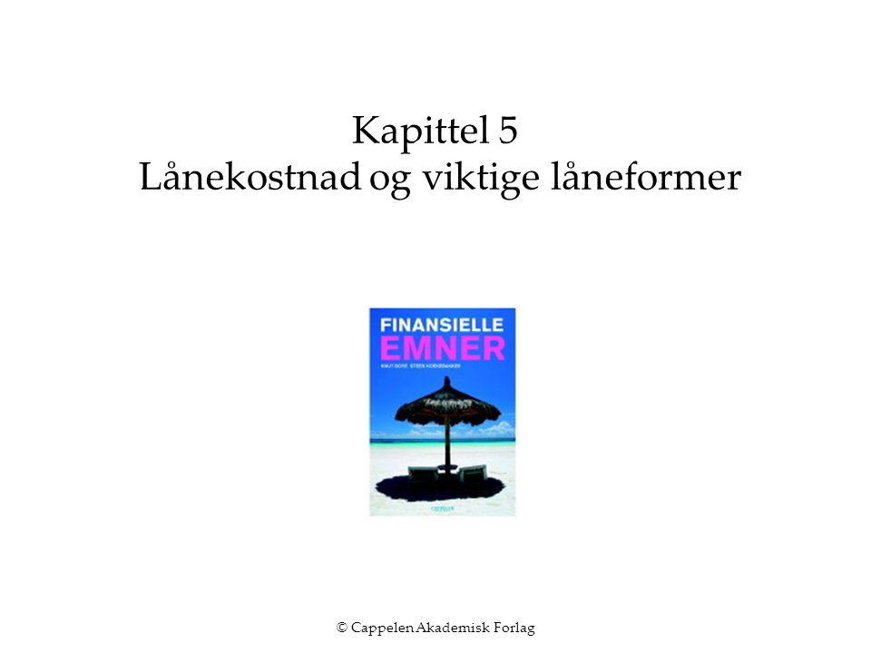 © Cappelen Akademisk Forlag Kapittel 5 Lånekostnad og viktige låneformer
