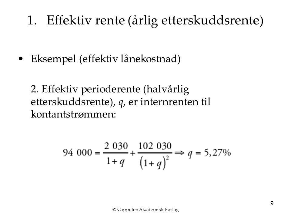 © Cappelen Akademisk Forlag 10 1.