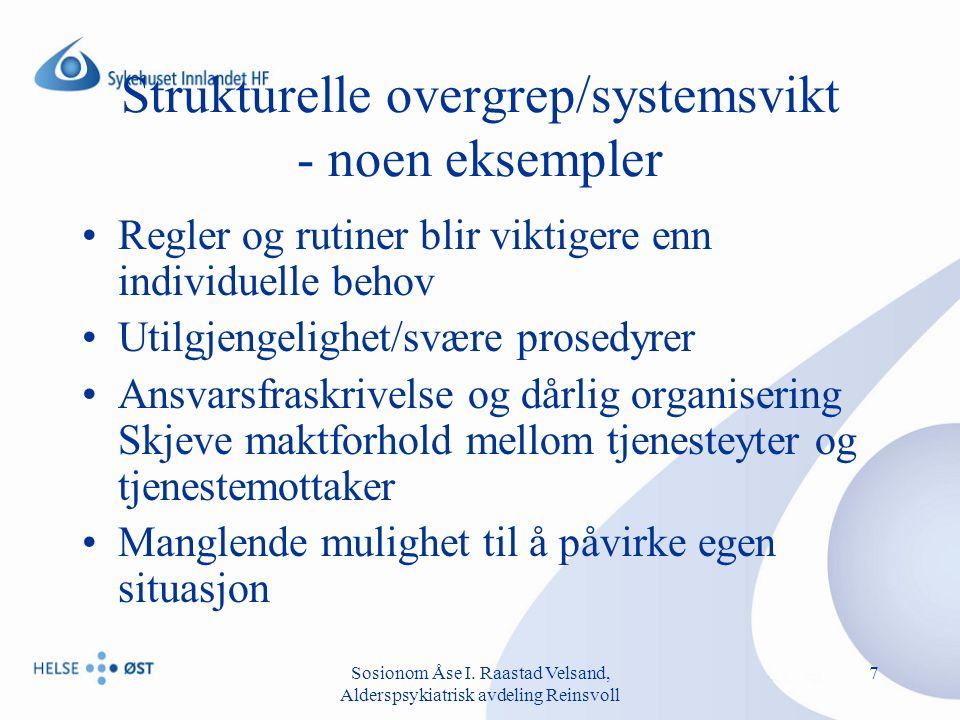 Sosionom Åse I.