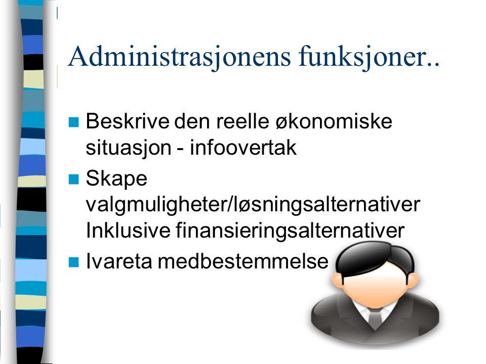 Administrasjonens funksjoner..