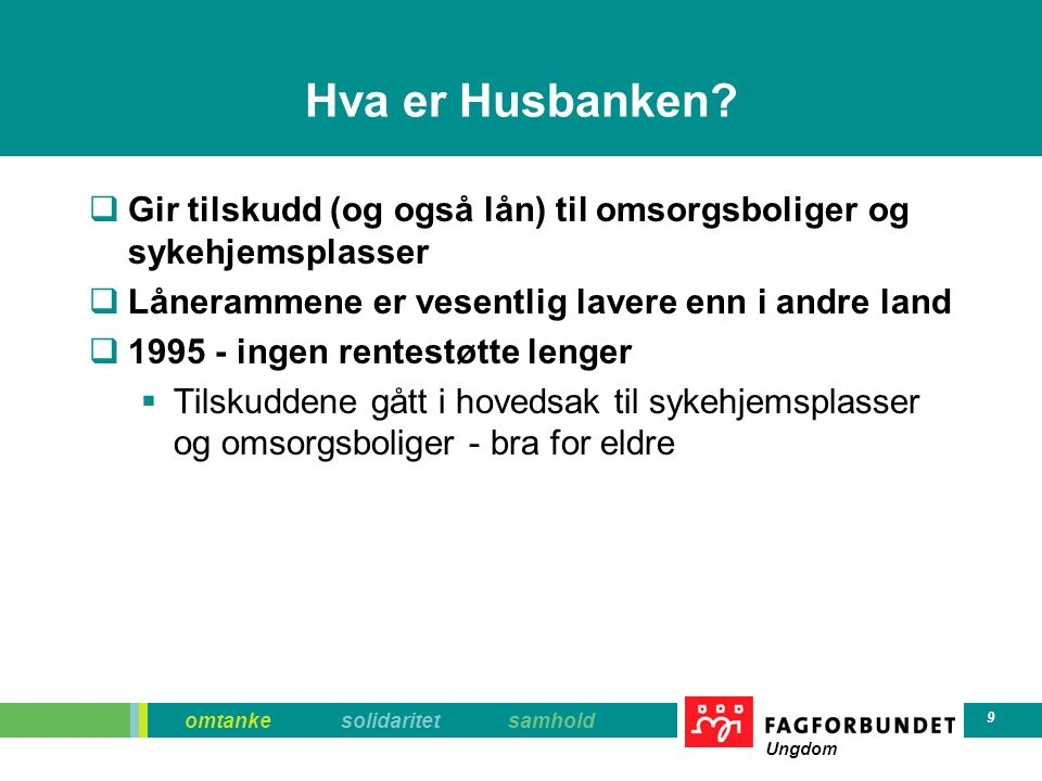 omtanke solidaritet samhold Ungdom 20 Å eie bolig  Risikosport  Dyrt å kjøpe  Hvor går renta.