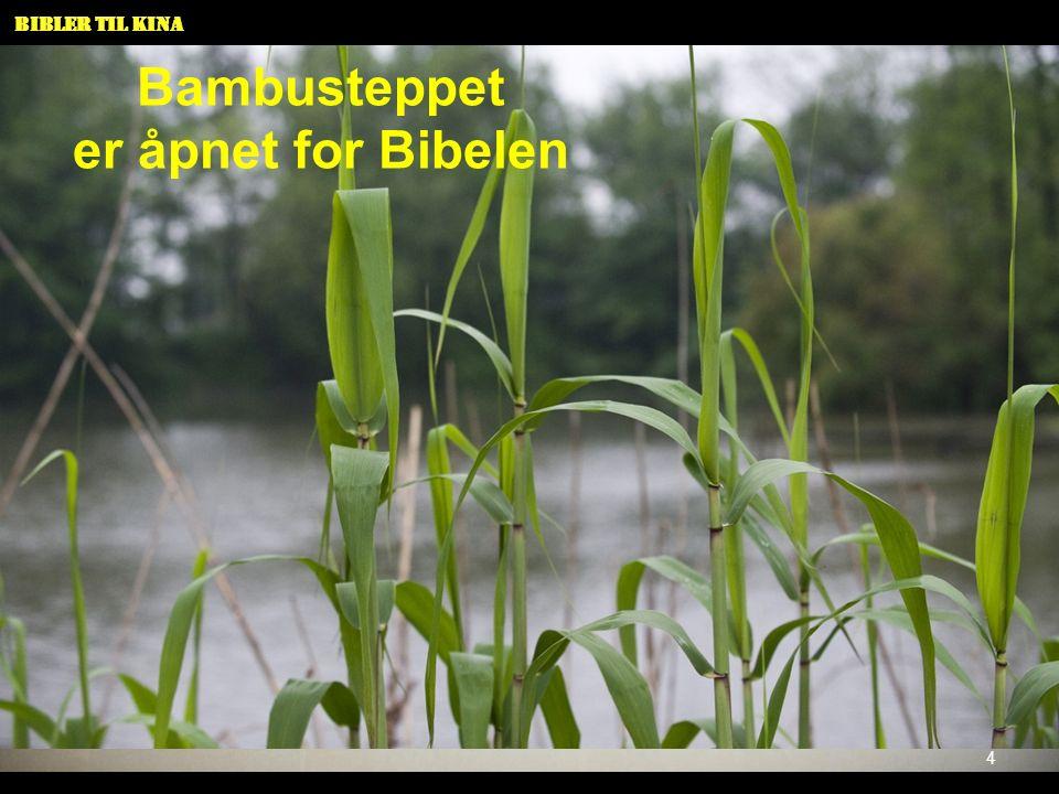 Bambusteppet er åpnet for Bibelen 4