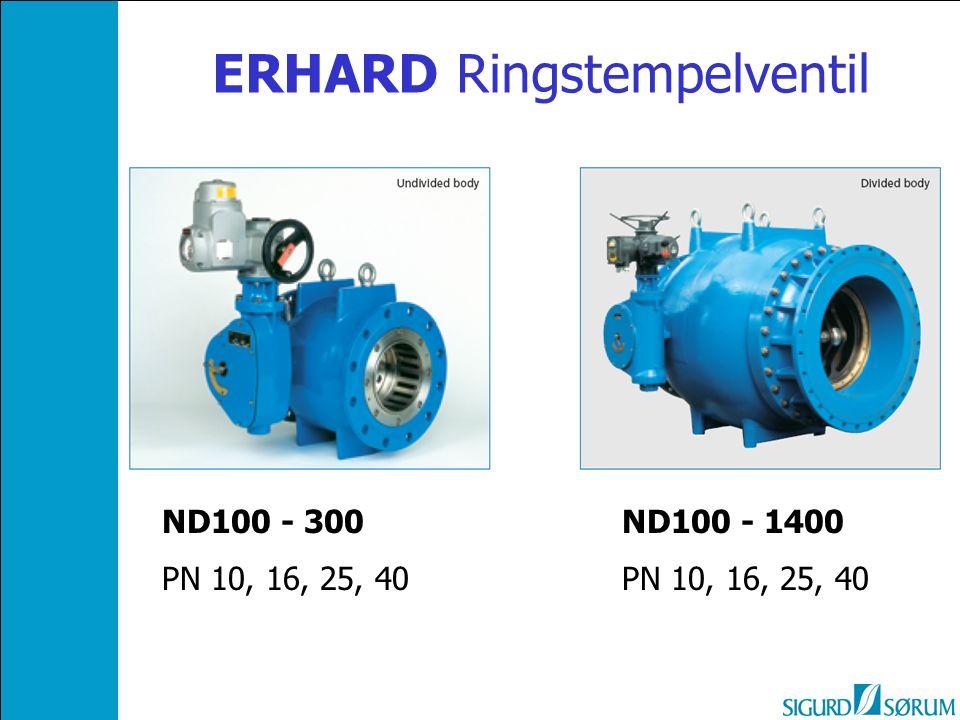 ERHARD Ringstempelventil ND100 - 1400 PN 10, 16, 25, 40 ND100 - 300 PN 10, 16, 25, 40