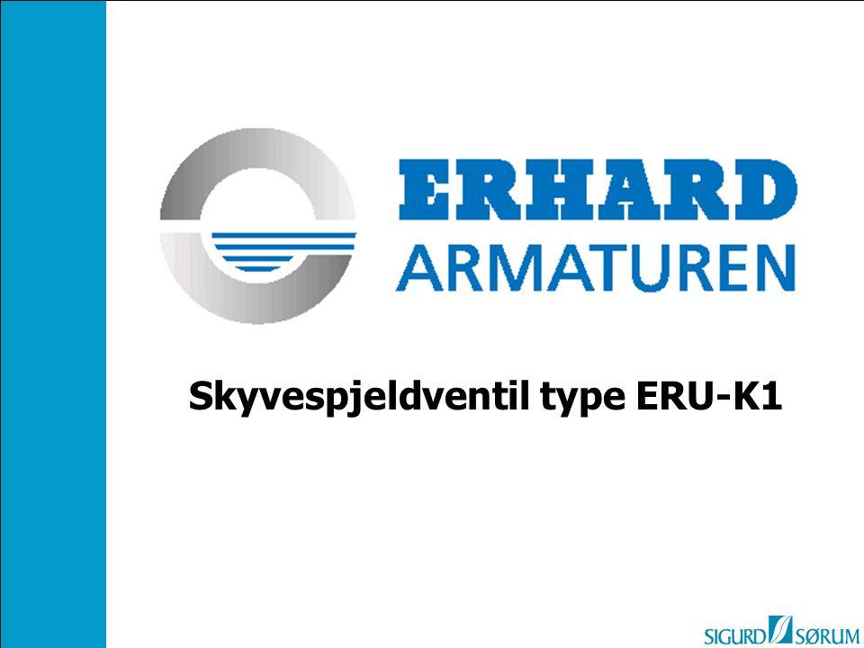 Skyvespjeldventil type ERU-K1
