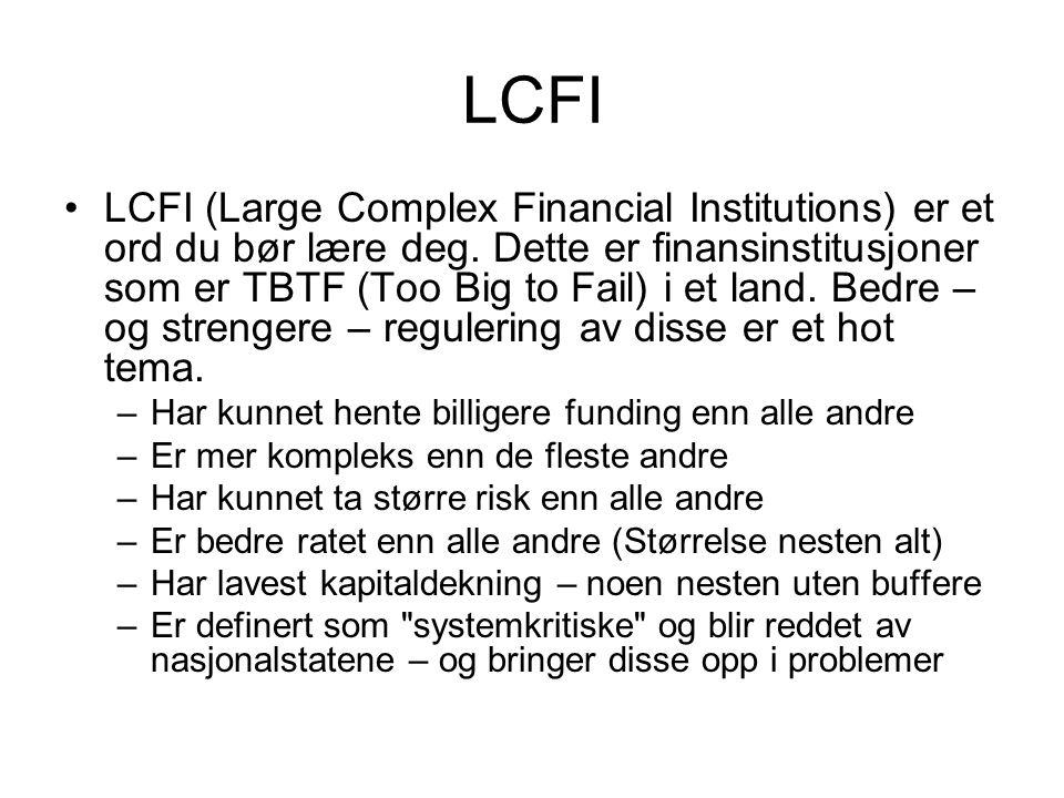 Hvorfor finanskrise 1 Excessive saving (Sør-Korea, Japan, Kina, Norge m.fl.