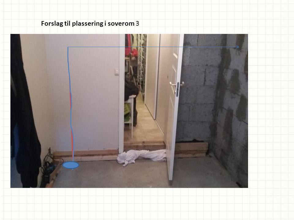 Forslag til plassering i soverom 3