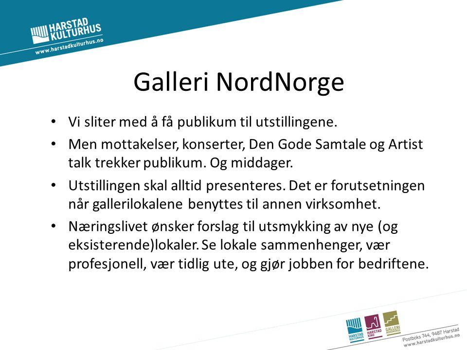 Galleri NordNorge Vi sliter med å få publikum til utstillingene.