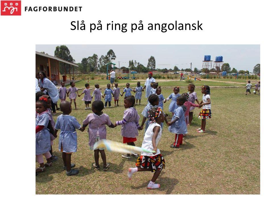 Slå på ring på angolansk