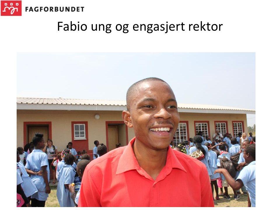 Fabio ung og engasjert rektor