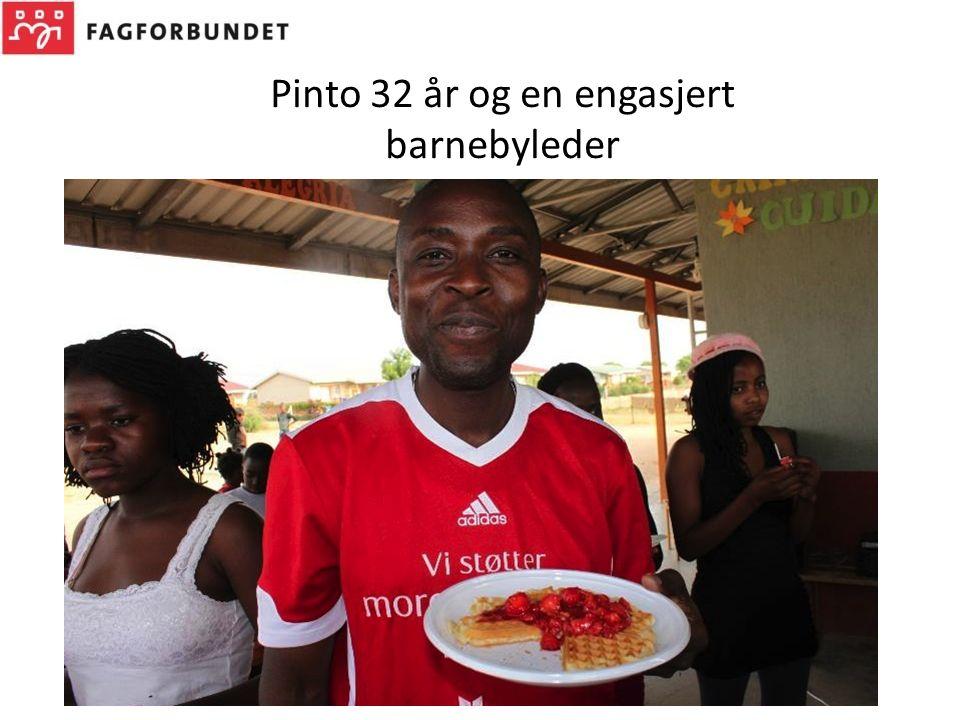 Pinto 32 år og en engasjert barnebyleder