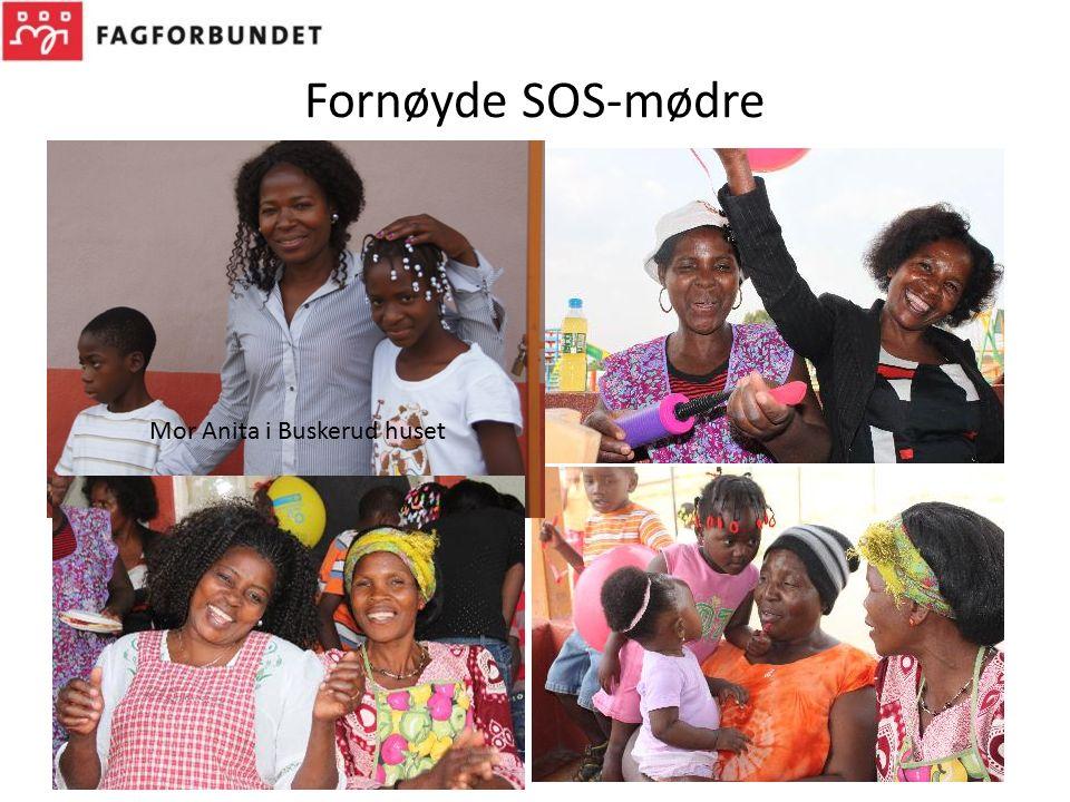 Fornøyde SOS-mødre Mor Anita i Buskerud huset