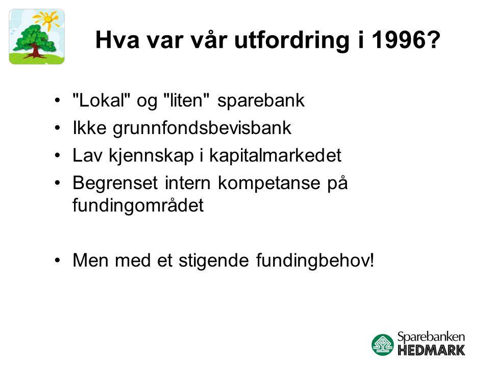 Hva var vår utfordring i 1996.