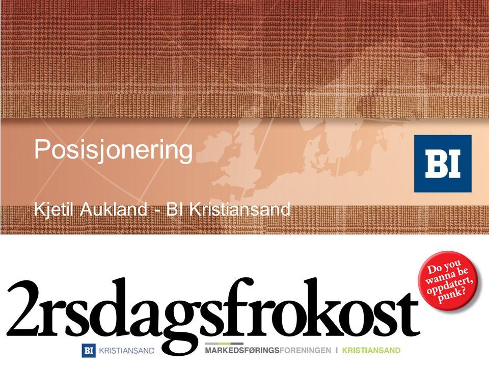 Kjetil Aukland Faglig leder BI Kristiansand PhD stipendiat Aalborg Universitet –Merkevare og Opplevelsesøkonomi Høyskolelektor –Markedsføring –Statistikk og metode kjetil.aukland@bi.no