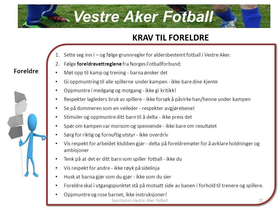 1.Sette seg inn i – og følge grunnregler for aldersbestemt fotball i Vestre Aker.