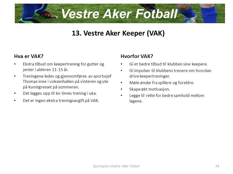 13. Vestre Aker Keeper (VAK) Hva er VAK.