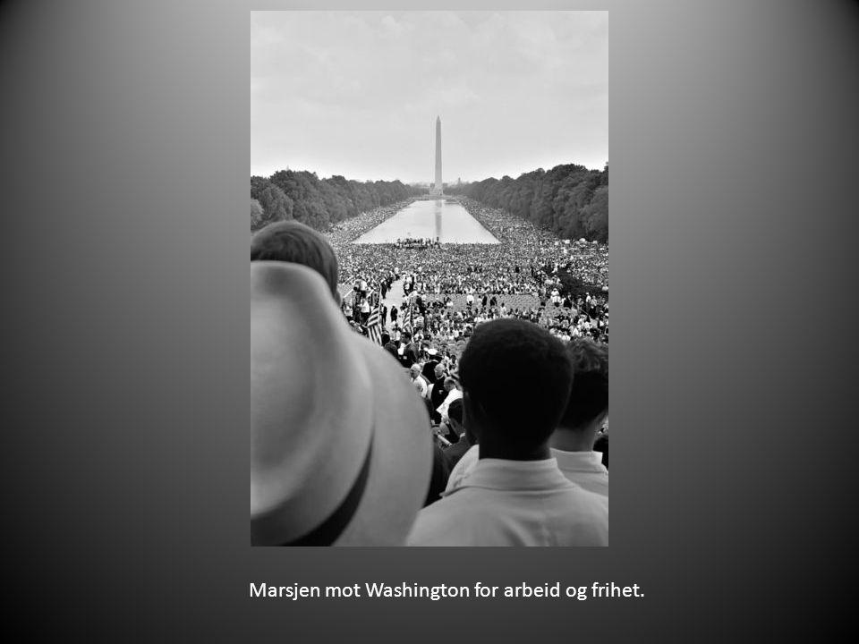 Marsjen mot Washington for arbeid og frihet.