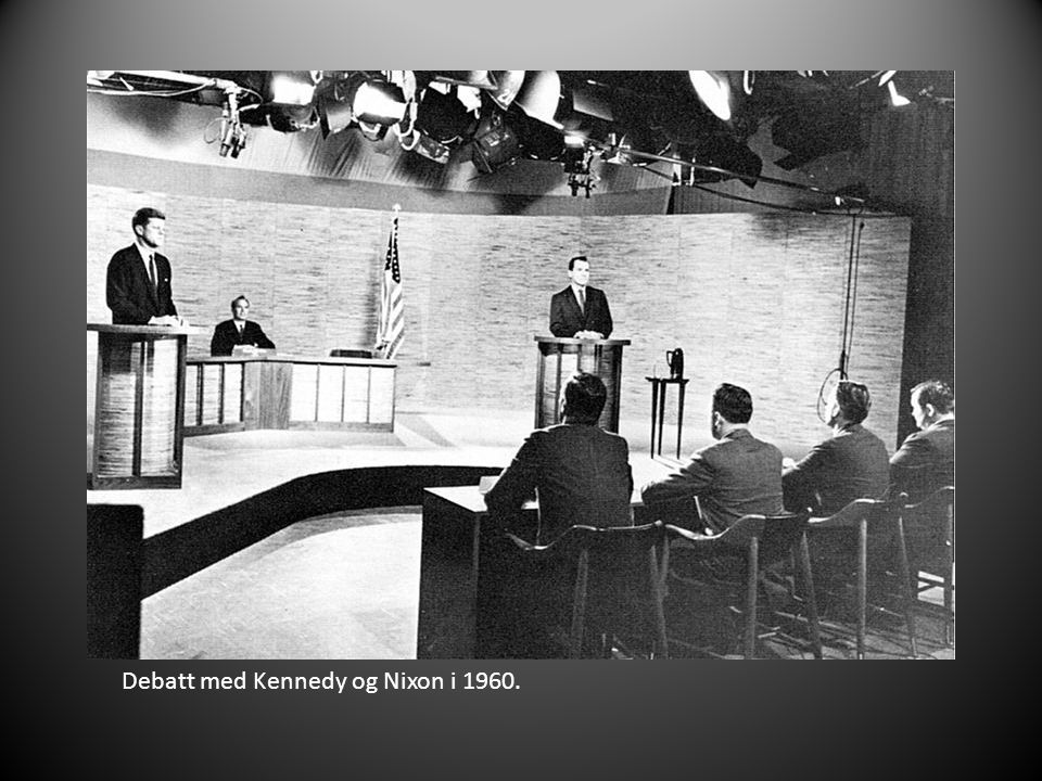 Avtroppende president Eisenhower og påtroppende president Kennedy.