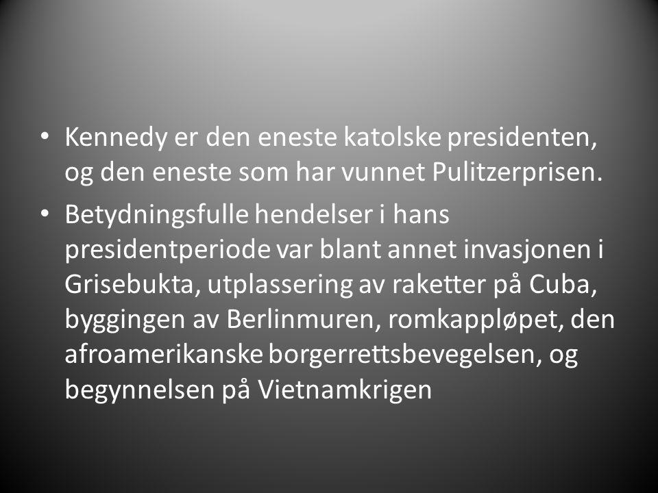 UTENRIKSPOLITIKK Kennedy var strålende fornøyd med hvordan regjeringen hans fungerte.