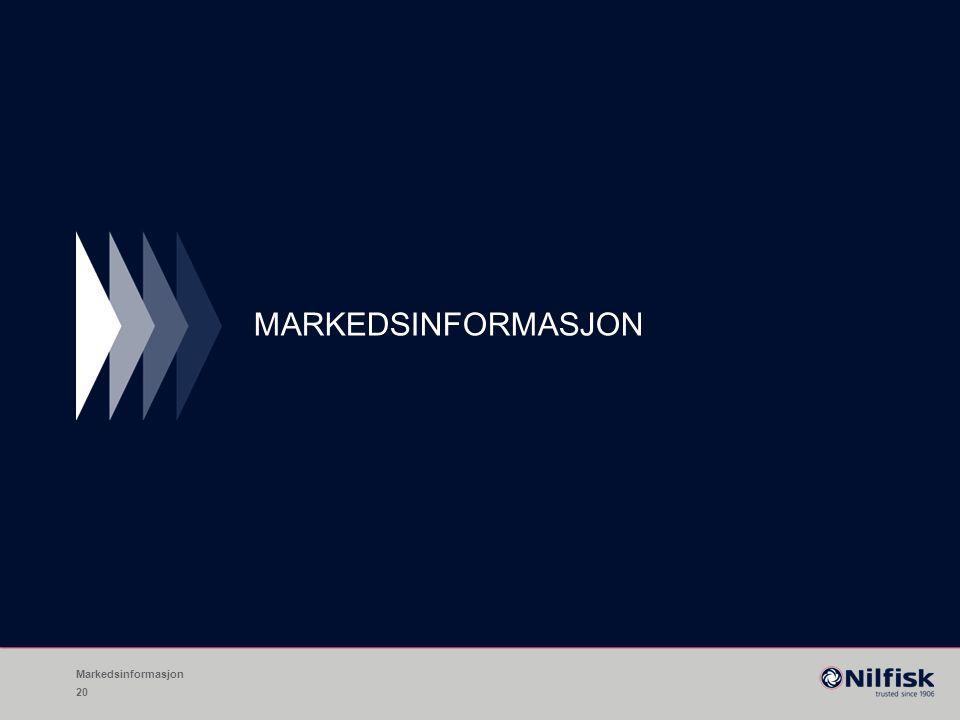 MARKEDSINFORMASJON Markedsinformasjon 20