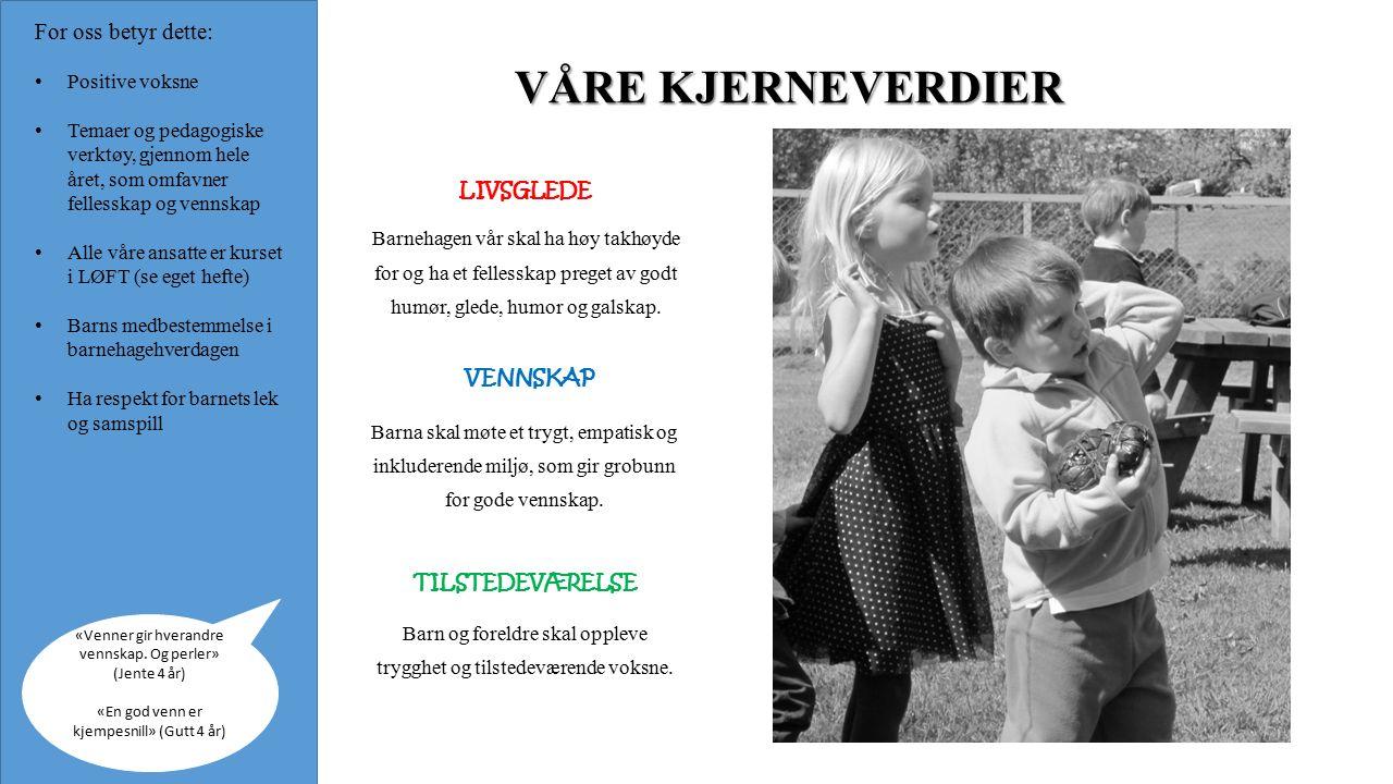 OVERGANG BARNEHAGE - SKOLE Fokus på sosial kompetanse: Å komme i lek, finne på lek og være selvstendig i leken.