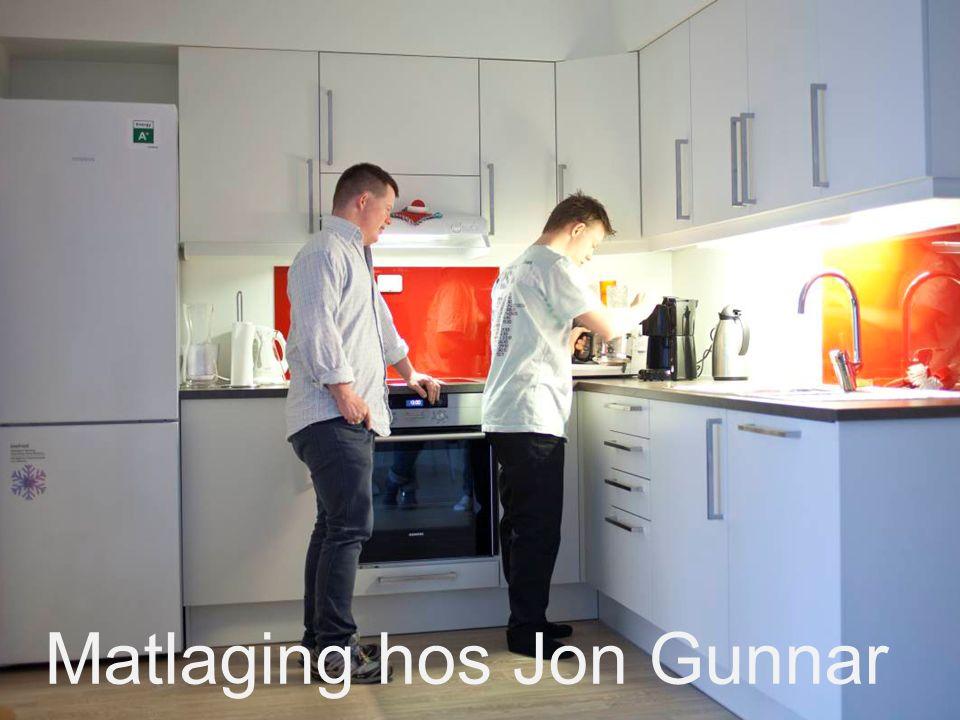 Matlaging hos Jon Gunnar