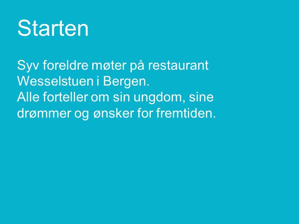 Starten Syv foreldre møter på restaurant Wesselstuen i Bergen.