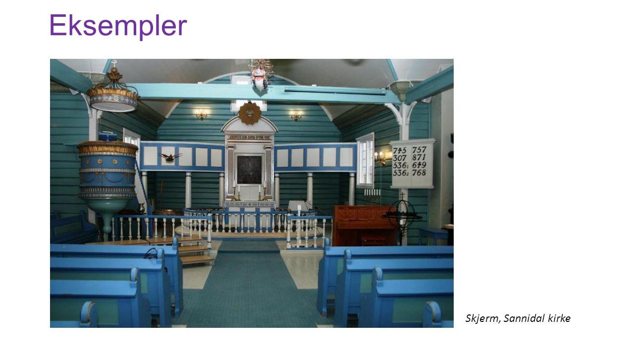 Eksempler Skjerm, Sannidal kirke