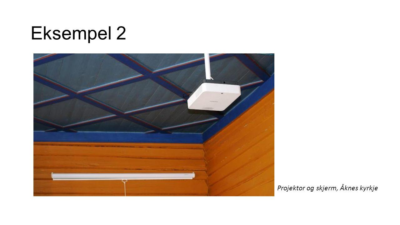 Eksempel 2 Projektor og skjerm, Åknes kyrkje