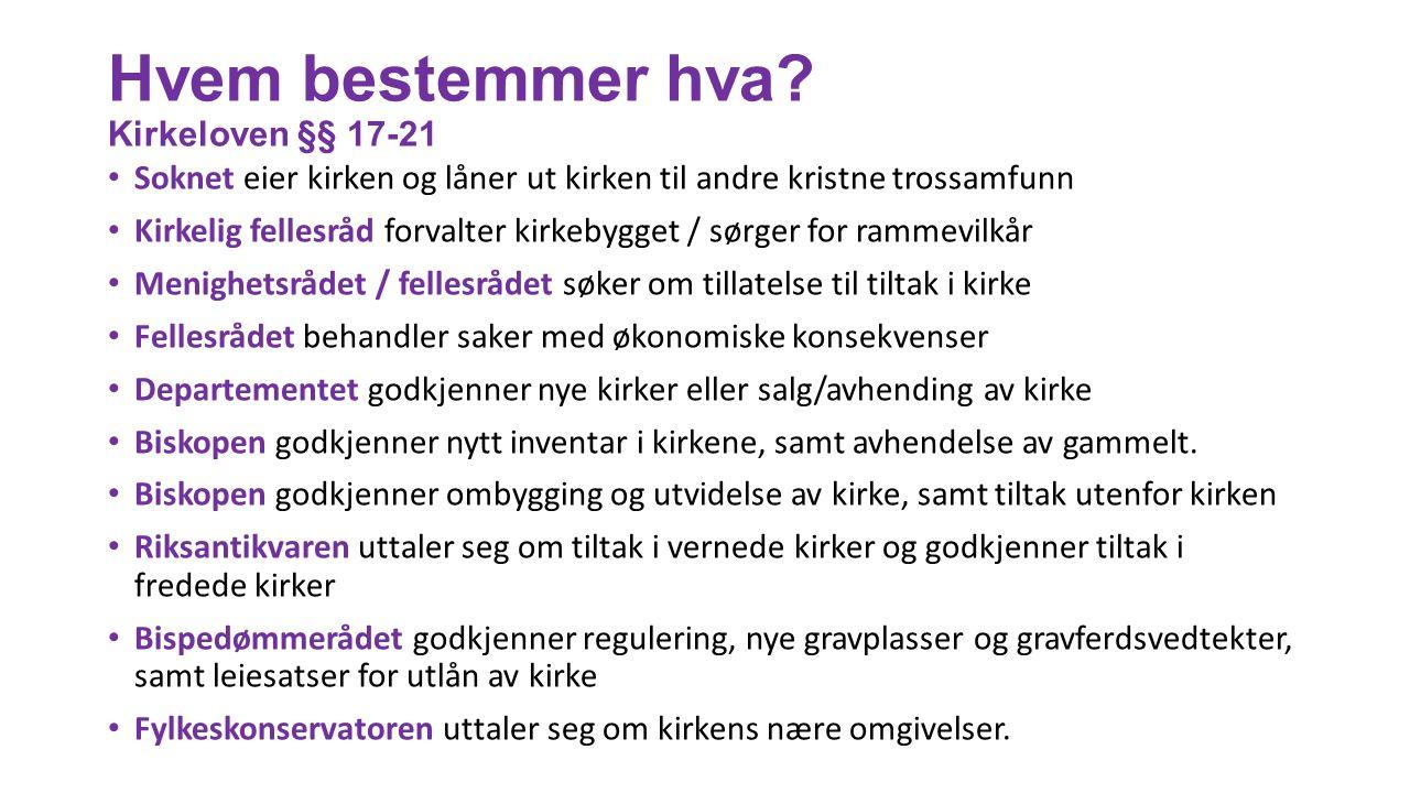 Regler for liturgisk inventar og utstyr Nye regler vedtatt av Kirkemøtet i 2015 Kap.