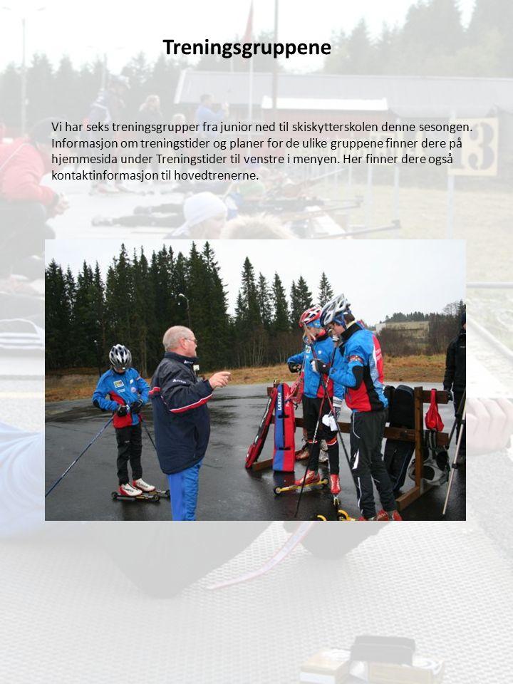 Treningsgruppene Vi har seks treningsgrupper fra junior ned til skiskytterskolen denne sesongen. Informasjon om treningstider og planer for de ulike g