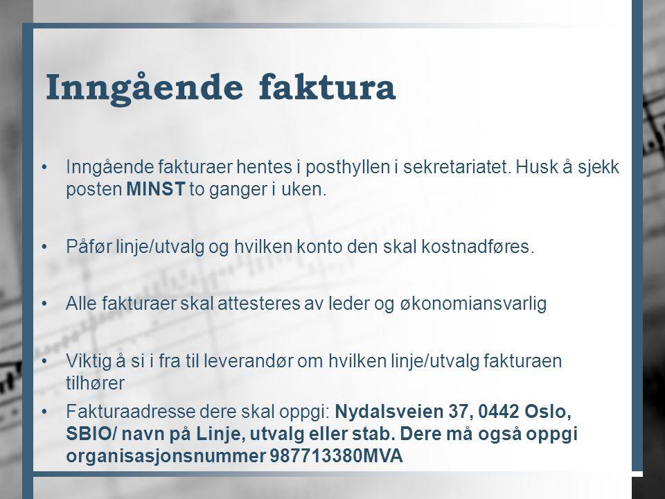 Satser for behandling av søknader Til turer innenlands/arrangementer/julebord etc.