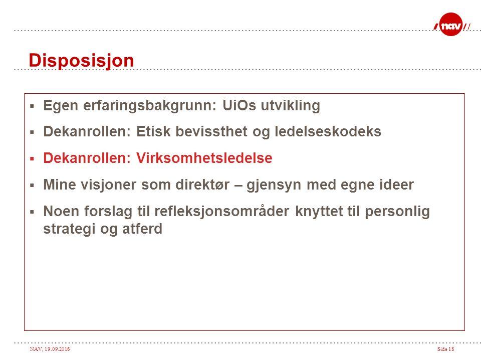 NAV, 19.09.2016Side 17 Beslutningskapasitet og handleevne – hva må gjøres……….(3) 4.