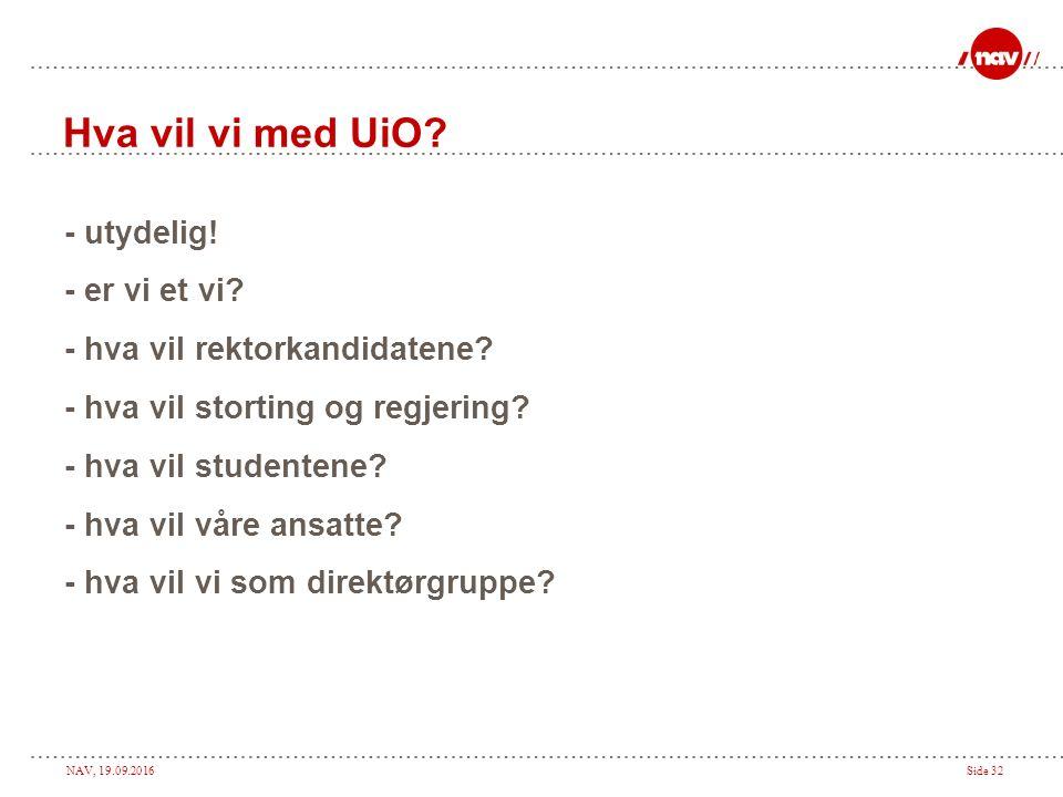 NAV, 19.09.2016Side 31 Olof Palme 1964 Politik - det är at vilja något.