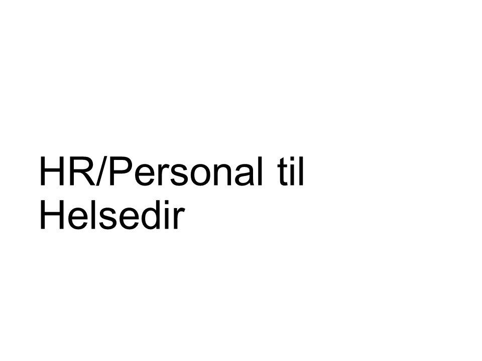 HR/Personal til Helsedir